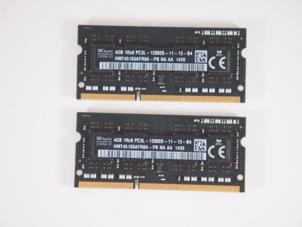 8GB (2x4GB) PC3-12800 SO-DIMM Ram